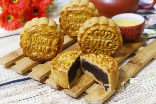 bánh trung thu nhân đậu đỏ, cách làm bánh trung thu, hướng dẫn cách làm bánh