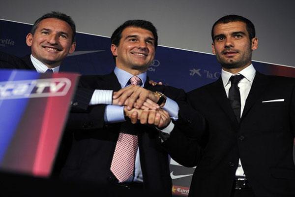 Pep Guardiola giành ghế HLV Barca