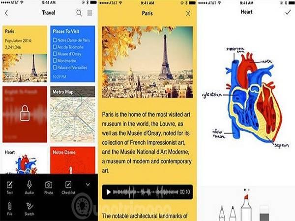 4 ứng dụng ghi chú cá nhân miễn phí trên iOS
