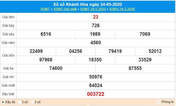 Thống kê XSKH 27/5/2020 - KQXS Khánh Hòa thứ 4