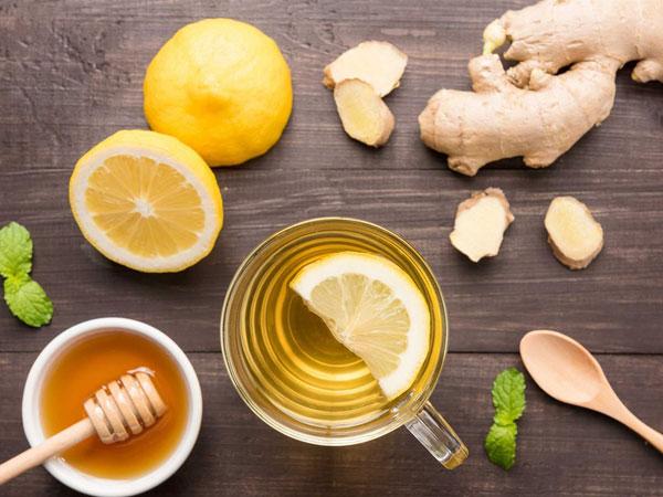 Giảm cân bằng trà gừng pha mật ong