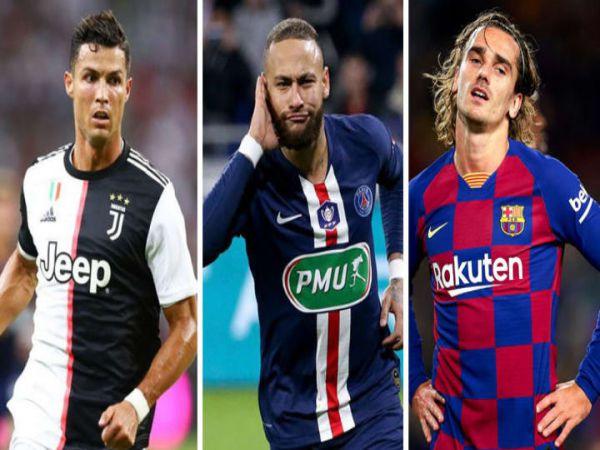 Top 10 cầu thủ có tổng phí chuyển nhượng cao nhất thế giới