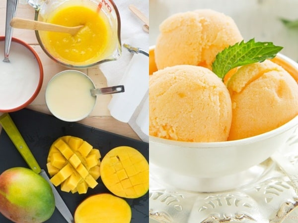 Cách làm kem xoài sữa chua vị chanh