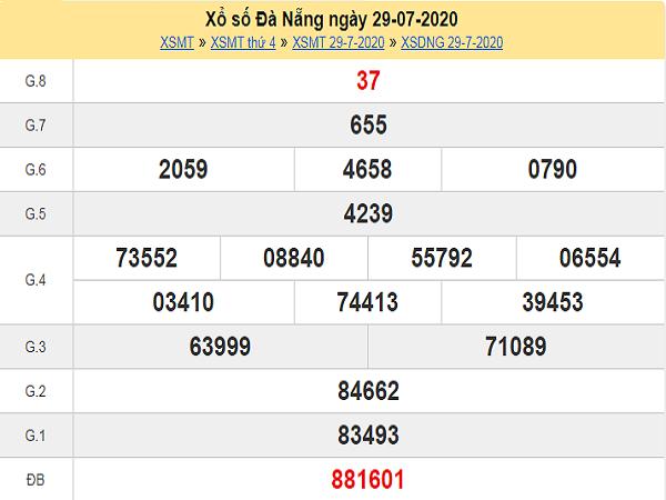Soi cầu bạch thủ KQXSDN- xổ số đà nẵng thứ 7 ngày 01/08/2020