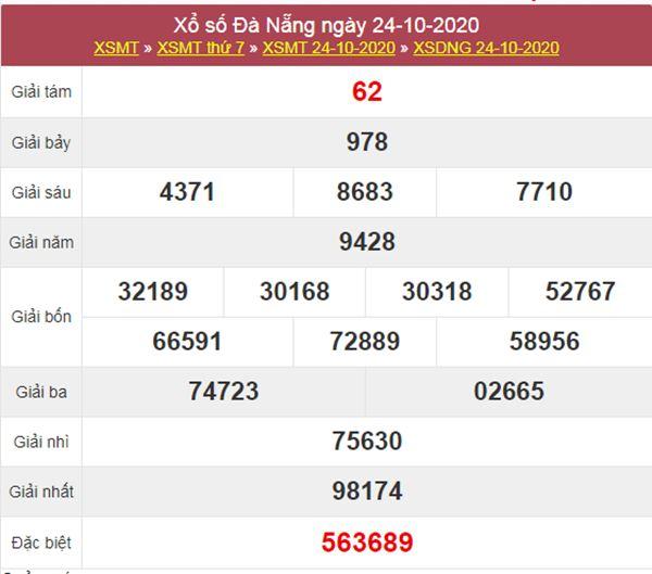 Thống kê XSDNG 28/10/2020 chốt lô VIP Đà Nẵng thứ 4